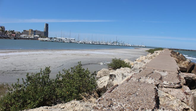 The city's breakwater infrastructure downtown, intended to protect the sea wall and the marina from storm damage, is scheduled for repairs.