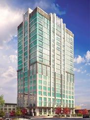 The new Arras hotel/condominium building in downtown