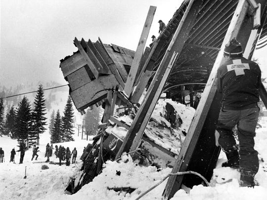 In 1982: A building was destroyed March 31, 1982, by an avalanche at Alpine Meadows that killed seven people.