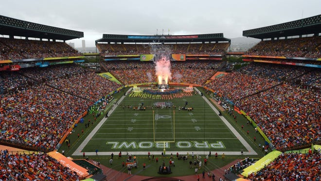 General view of the 2014 Pro Bowl at Aloha Stadium.