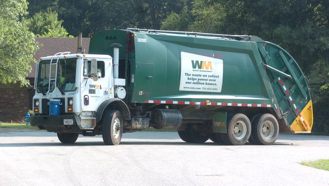 File photo of a Waste Management garbage truck