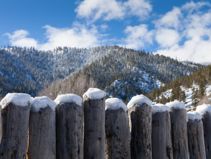 Winter scenes from Genoa and the Carson Valley.