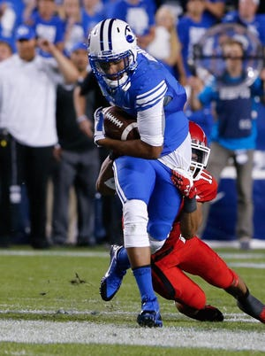 BYU wide receiver Cody Hoffman was suspended for the Cougars' game against Middle Tennessee.