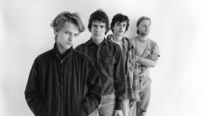 """The Replacements were, from left, Tommy Stinson, Paul Westerberg, Chris Mars and Bob Stinson. This photo from the early '80s is on the cover of the new """"Trouble Boys"""" biography."""