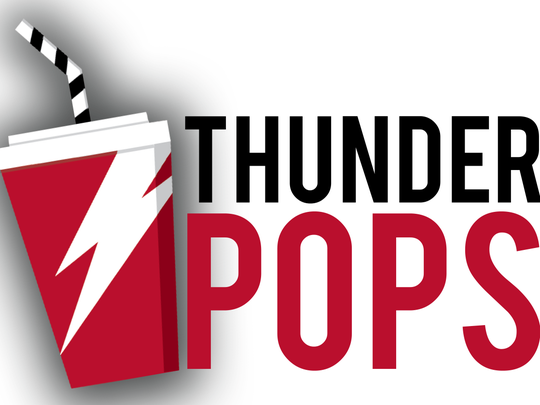 The brand identity of ThunderPops, a new drink station