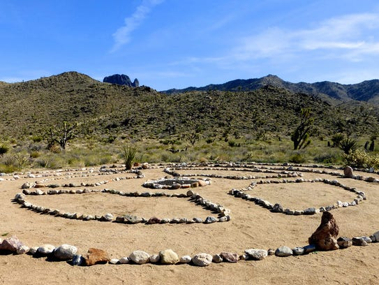 A meditation circle welcomes hikers near the 14th Street