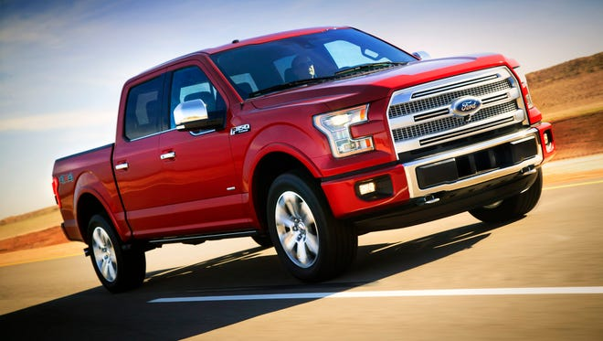 The redesigned 2015 Ford F-150 pickup, best-selling vehicle in America.