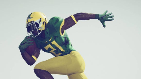 Oregon's uniform that it will wear in Friday's Civil War against Oregon State.