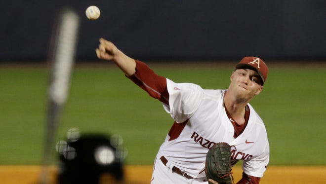 Mountain Home High School grad Trey Killian gets the call Friday as Arkansas meets Oral Roberts at noon in the opening game of the Stillwater Regional being hosted by Oklahoma State.