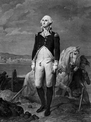 George Washington, first president of the United States of America, served from 1789-1797.