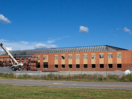 Rockvale High School is under construction on Highway
