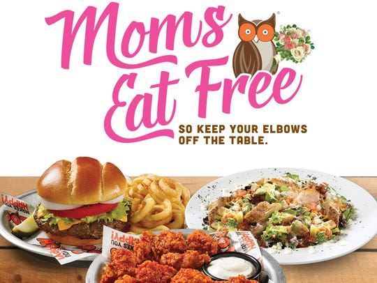 Moms can eat free off Hooters' Mother's Day Menu on
