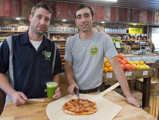 Nick Gelardi, left, is ready to taste a Green Leaf