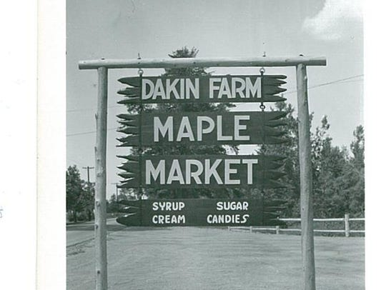 The original Dakin Farm sign along U.S. 7 in Ferrisburgh