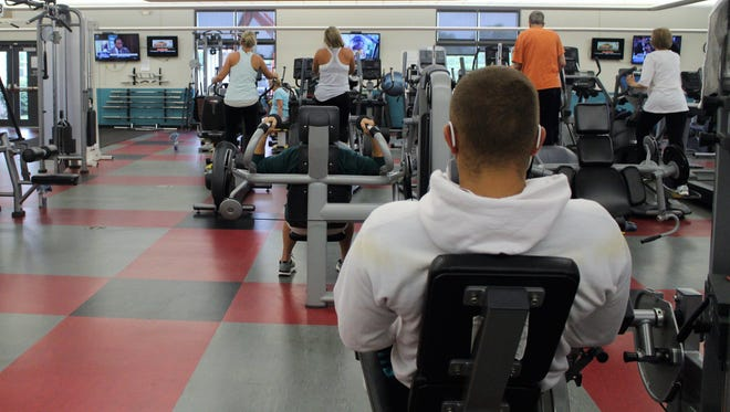 Members of the Marion Family YMCA conduct their daily workouts in the facility's wellness center earlier this year. The center is undergoing a $500,000 expansion.