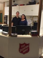 Ryan Reed, director of operations for the Salvation Army Rehabilitation Center, and Angie Morales, district supervisor for central Pennsylvania thrift stores, provide a tour of the rehab center near Harrisburg on April 6, 2017.