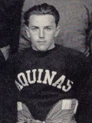 Pete Tierney, shown in his football uniform in the