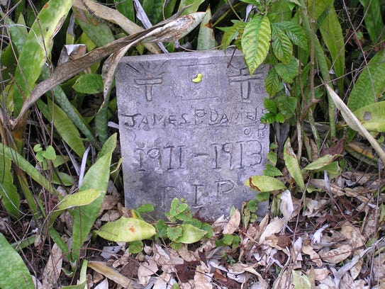 The embellished grave of a two-year-old at the Fakahatchee