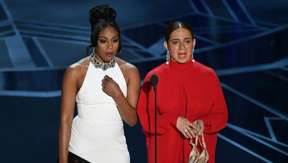 Tiffany Haddish, presenting at the Oscars with Maya