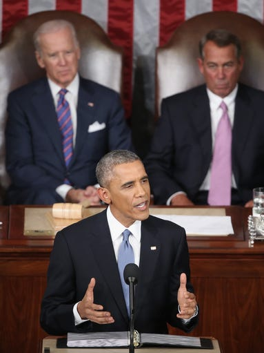 President Barack Obama delivers the State of the Union