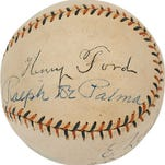Rare Henry Ford-signed baseball to be auctioned