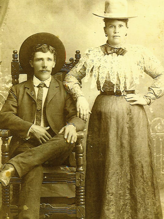 Mr. and Mrs. Felipe Sanchez are pictured here. Sanchez's grandfather, Mauricio, was among the early settlers in Lincoln County.