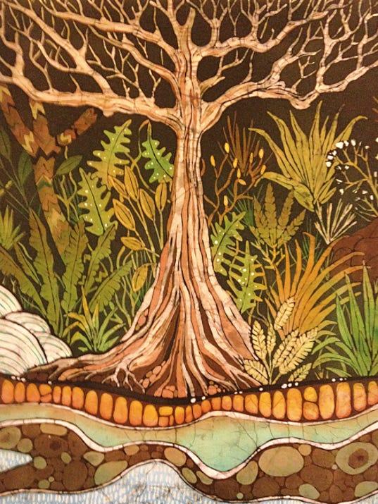 An example of Dorn's batik work.