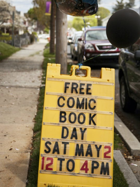 Comics and Paperbacks Plus in Palmyra had a large turnout for Free Comicbook Day on Saturday.