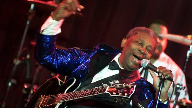 Pictured in 2000, B.B. King maintained a rigorous touring schedule into his 80s.