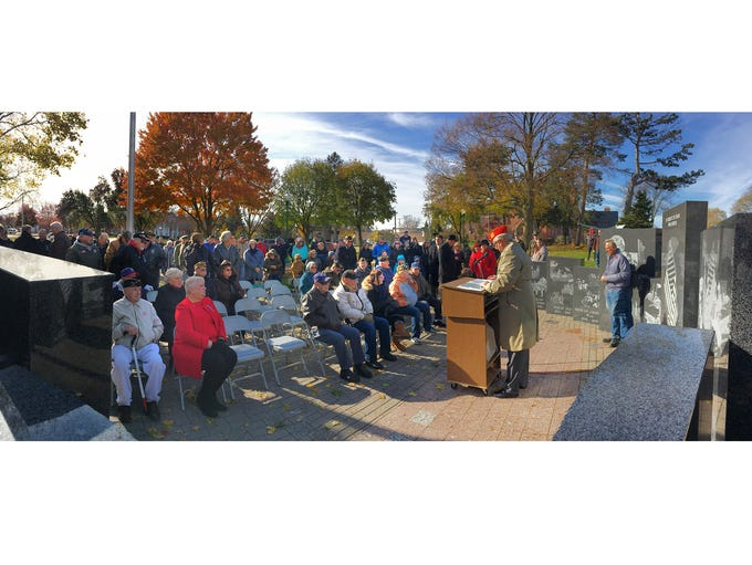 Veterans, friends and families gathered for the annual