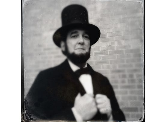 Ron Carley as Abraham Lincoln, 2018. Ron was photographed
