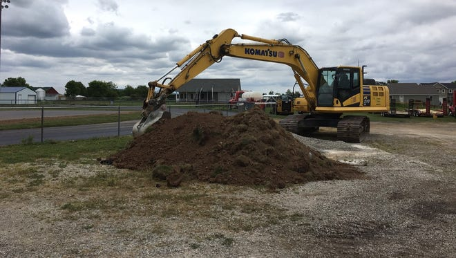 Work being done on and around the track at Adena High School could benefit from a boost of anticipated extra revenue if a revaluation request tied to AEP Ohio property within the district is granted.