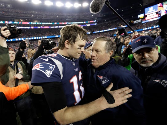 In this Jan. 21, 2018, file photo, New England Patriots