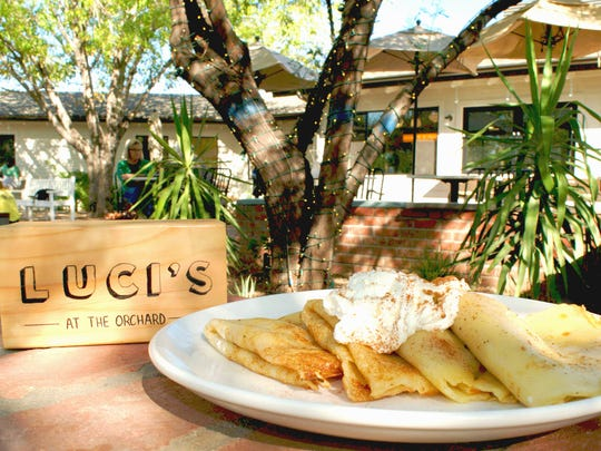 The pumpkin crepes at Luci's at the Orchard.