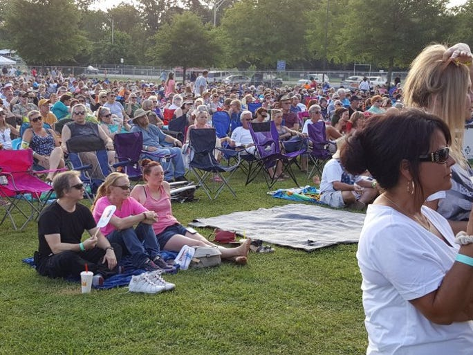 More than two thousand fans enjoy listening to the Atlanta Rhythm Section during the Secret City Festival on Saturday, June 11, 2016, at Bissell Park in Oak Ridge.