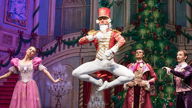 "Moscow Ballet's Nutcracker Doll Leaping. Moscow Ballet will present ""Great Russian Nutcracker"" on Dec. 13, 2017, at the Montgomery Performing Arts Centre."