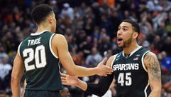 No. 7 Michigan State plays No. 4 Louisville in the
