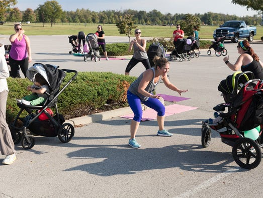 Stroller Barre lets moms work out with their children.