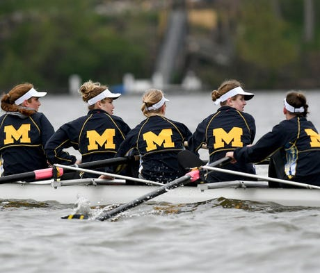 Practicing on Belleville Lake on Wednesday in prep...