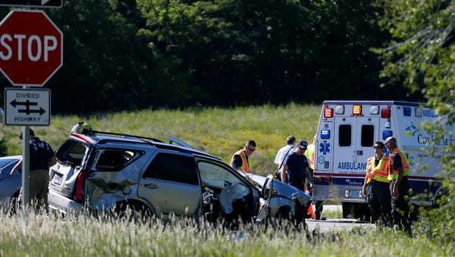 A Springfield woman was killed in an accident involving a silver SUV and a red truck near Missouri 13 and Farm Road 94 on Friday, Aug 4, 2017.