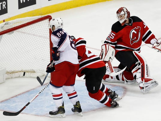 Devils' makeshift lineup blanked by Blue Jackets, 3-0