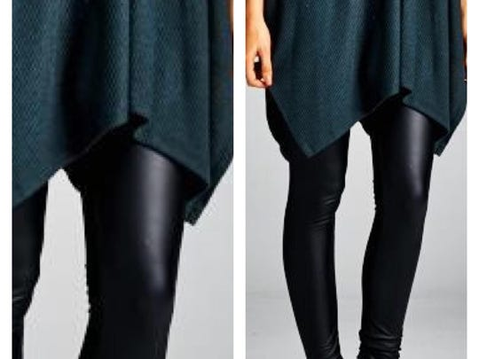 Add a layer of warmth to a short dress or fuzzy sweater
