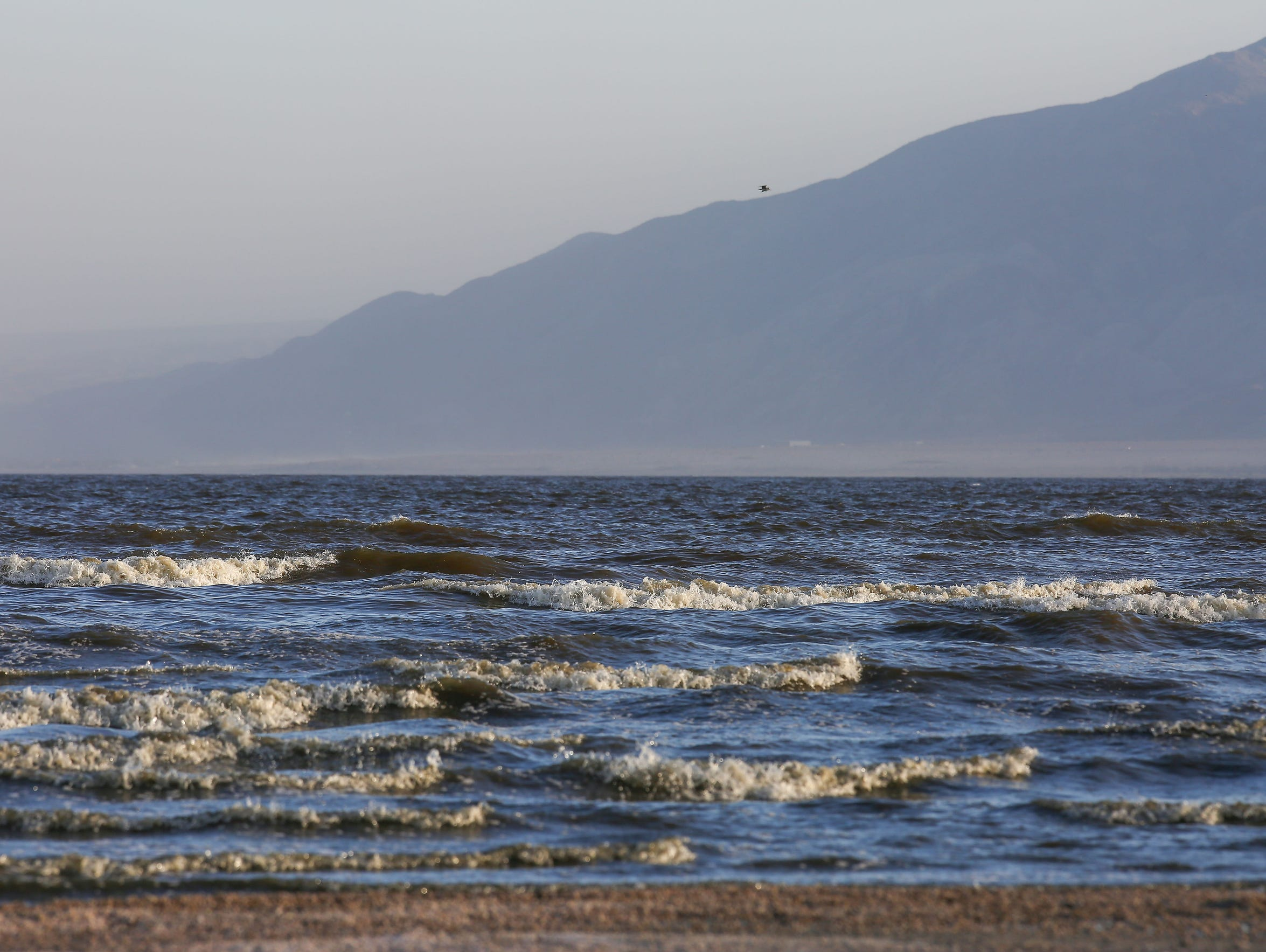 High winds stir up dust around the Salton Sea on May