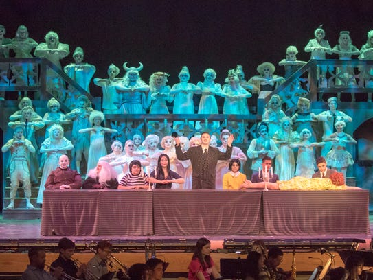 "Harrison High School's ""The Addams Family"" was one of four production of the musical on high-school stages in the Lower Hudson Valley last year. In 2018, there are five productions of the musical: White Plains, Kennedy Catholic, Bronxville, Ardsley, and Mahopac."