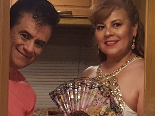 Hugo Cortés and his wife, Lily, are the popular act that pays tribute to the late Juan Gabriel and Rocio Dúrcal.