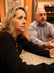 Sue and Brian Poehler, of Toms River, talk about Shore House Lifters and New Jersey's RREM program in their kitchen in March 2017.
