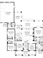 This upscale one-story design boasts many special amenities,