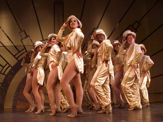 "A rehearsal of Phoenix Productions' ""A Chorus Line"""