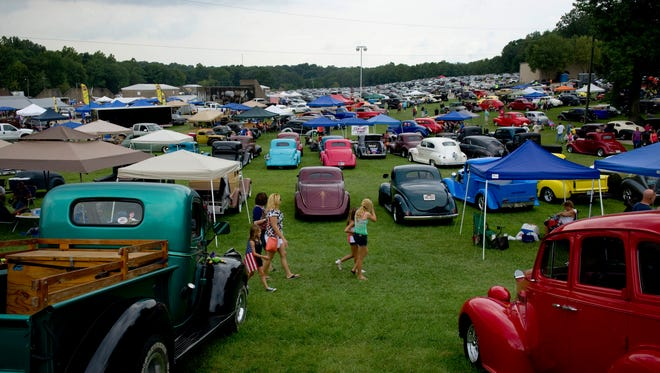 Thousands of hot rods are on display at the Vanderburgh County 4-H Fairgrounds during the Frog Follies last year.