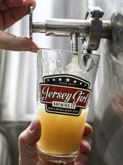 Sample of Jersey Girl's Golden Ale at Jersey Girl Brewing